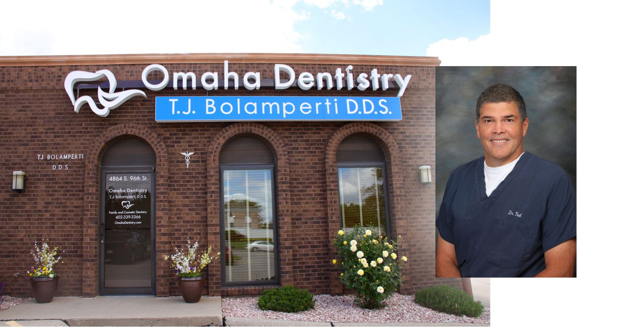 Omaha Dentistry building front | Dr., Ted Bolamperti